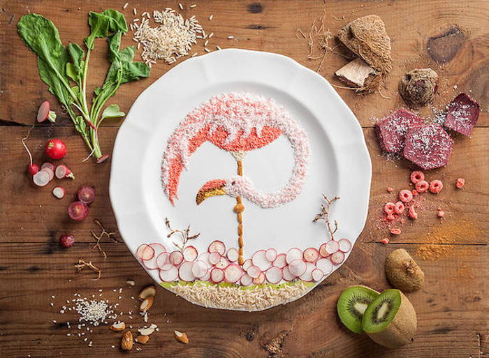 изкуство с храна на AKJ