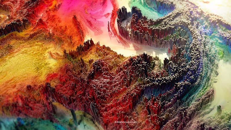 3D абстрактно дигитално изкуство от Махмуд Джуини
