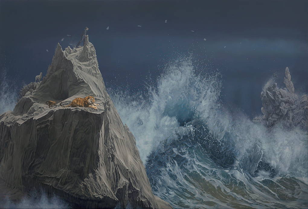картина на буря на Джоел Реа
