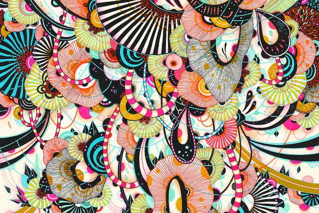 картина от изложбата Сияние на Йелена Джеймс
