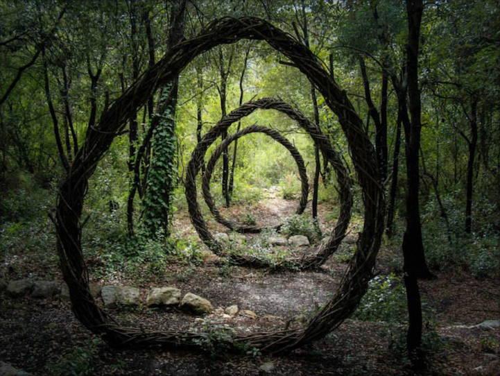 скулптура във френските гори от Спенсър Биле