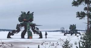 научно-фантастичен свят в шведската провинция изобразен от Симон Сталенхаг