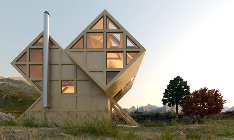 къща която имитира асиметрията на планинския ландшафт