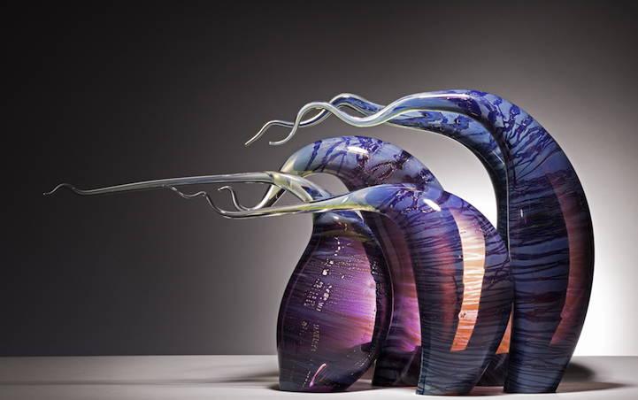 стъклени скулптури на Рик Егърт