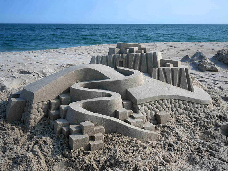 пясъчни замъци от Калвин Зайберт