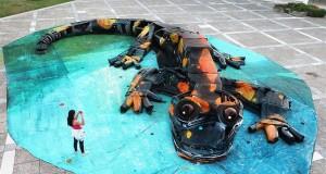 скулптура на саламандър