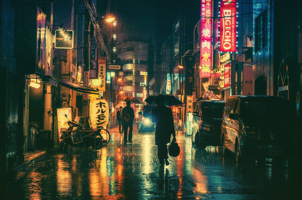 кинематографични снимки на Токио